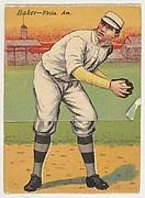 Baker, Philadelphia, American League, from the Mecca Double Folder series (T201)