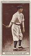 "Frank ""Wildfire"" Schulte, Chicago, National League, from the Brown Background series (T207) for the American Tobacco Company"