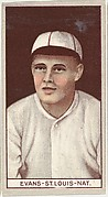 Louis Evans, St. Louis, National League, from the Brown Background series (T207) for the American Tobacco Company