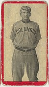 Long, Columbus, Atlantic League, from the Baseball Players (Red Borders) series (T210) issued by Old Mill Cigarettes