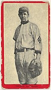 Haines, Lexington, Blue Grass League, from the Baseball Players (Red Borders) series (T210) issued by Old Mill Cigarettes