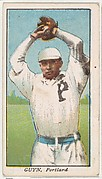 """Guyn, Portland, from the """"Obak Baseball Players"""" set (T212), issued by the American Tobacco Company to promote Obak Mouthpiece Cigarettes"""