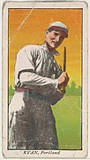 "Ryan, Portland, from the ""Obak Baseball Players"" set (T212), issued by the American Tobacco Company to promote Obak Mouthpiece Cigarettes"
