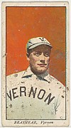 "Brashear, Vernon, from the ""Obak Baseball Players"" set (T212), issued by the American Tobacco Company to promote Obak Mouthpiece Cigarettes"