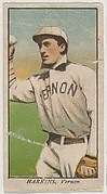 """Harkins, Vernon, from the """"Obak Baseball Players"""" set (T212), issued by the American Tobacco Company to promote Obak Mouthpiece Cigarettes"""