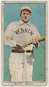 """Mott, Vernon, from the """"Obak Baseball Players"""" set (T212), issued by the American Tobacco Company to promote Obak Mouthpiece Cigarettes"""