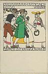 Procession in Honor of the Emperor's Jubilee, Vienna 1908, Gruppe 13: The Era of Emperor Josef II (Kaiser Huldigungs Festzug, Wien 1908, Bauern aus dem Ernte Fest in der Zeit Kaiser Josef II)