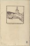 Karlsbad: Marketsquare with Castle Tower 1790 (Karlsbad: Markt mit Schlossturm 1790)