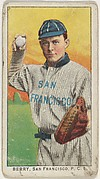 """Berry, San Francisco, Pacific Coast League, from the """"Obak Baseball Players"""" set (T212), issued by the American Tobacco Company to promote Obak Mouthpiece Cigarettes"""