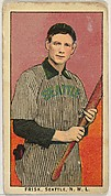 """Frisk, Seattle, Northwestern League, from the """"Obak Baseball Players"""" set (T212), issued by the American Tobacco Company to promote Obak Mouthpiece Cigarettes"""