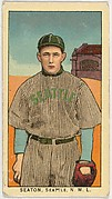 """Seaton, Seattle, Northwestern League, from the """"Obak Baseball Players"""" set (T212), issued by the American Tobacco Company to promote Obak Mouthpiece Cigarettes"""