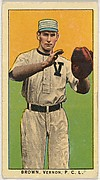 "Brown, Vernon, Northwestern League, from the ""Obak Baseball Players"" set (T212), issued by the American Tobacco Company to promote Obak Mouthpiece Cigarettes"