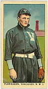 """Flannagan, Vancouver, Northwestern League, from the """"Obak Baseball Players"""" set (T212), issued by the American Tobacco Company to promote Obak Mouthpiece Cigarettes"""