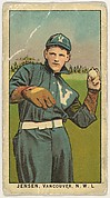 """Jensen, Vancouver, Northwestern League, from the """"Obak Baseball Players"""" set (T212), issued by the American Tobacco Company to promote Obak Mouthpiece Cigarettes"""