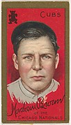 "Mordecai Brown, Chicago Cubs, National League, from the ""Baseball Series"" (Gold Borders) set (T205) issued by the American Tobacco Company"