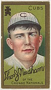 "Thomas J. Needham, Chicago Cubs, National League, from the ""Baseball Series"" (Gold Borders) set (T205) issued by the American Tobacco Company"