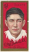 """A.H. Bushnell, New York Giants, National League, from the """"Baseball Series"""" (Gold Borders) set (T205) issued by the American Tobacco Company"""