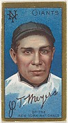 """John T. Meyers, New York Giants, National League, from the """"Baseball Series"""" (Gold Borders) set (T205) issued by the American Tobacco Company"""