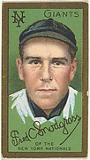 """Frederick C. Snodgrass, New York Giants, National League, from the """"Baseball Series"""" (Gold Borders) set (T205) issued by the American Tobacco Company"""