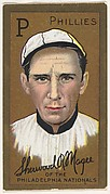 "Sherwood R. Magee, Philadelphia Phillies, National League, from the ""Baseball Series"" (Gold Borders) set (T205) issued by the American Tobacco Company"