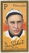 """George Paskert, Philadelphia Phillies, National League, from the """"Baseball Series"""" (Gold Borders) set (T205) issued by the American Tobacco Company"""
