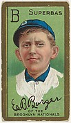"""Edward B. Barger, Brooklyn Superbas, National League, from the """"Baseball Series"""" (Gold Borders) set (T205) issued by the American Tobacco Company"""