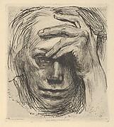 Self-Portrait with Hand on the Forehead (Selbstbildnis mit der Hand an der Stirn)