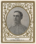 Stahl, 1st Base, Boston, American League, from the Baseball Players (Ramlys) series (T204) issued by the Mentor Company to promote Ramly and T.T.T. Turkish Cigarettes
