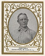 Hartzell, Center Field, St. Louis, American League, from the Baseball Players (Ramlys) series (T204) issued by the Mentor Company to promote Ramly and T.T.T. Turkish Cigarettes