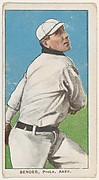 Bender, Philadelphia, American League, from the White Border series (T206) for the American Tobacco Company