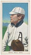 Davis, Philadelphia, American League, from the White Border series (T206) for the American Tobacco Company