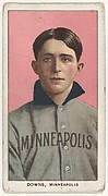 Downs, Minneapolis, American Association, from the White Border series (T206) for the American Tobacco Company