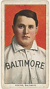 Adkins, Baltimore, Eastern League, from the White Border series (T206) for the American Tobacco Company