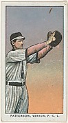 """Patterson, Vernon, Pacific Coast League, from the """"Obak Baseball Players"""" set (T212), issued by the American Tobacco Company to promote Obak Mouthpiece Cigarettes"""