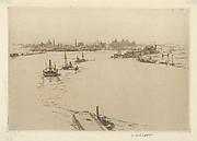 Williamsburg from the Bridge (Sketch)
