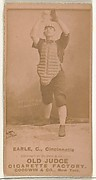 """William Moffat """"Billy"""" Earle, Catcher, Cincinnati, from the Old Judge series (N172) for Old Judge Cigarettes"""