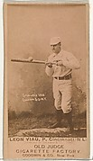 "Leon A. ""Lee"" Viau, Pitcher, Cincinnati, from the Old Judge series (N172) for Old Judge Cigarettes"