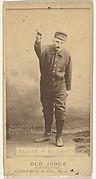 """Edward Enoch """"Jersey"""" Bakely, Pitcher, Cleveland, from the Old Judge series (N172) for Old Judge Cigarettes"""