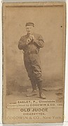"Edward Enoch ""Jersey"" Bakely, Pitcher, Cleveland, from the Old Judge series (N172) for Old Judge Cigarettes"
