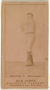 """Ebenezer Ambrose """"Ed"""" Beatin, Pitcher, Cleveland, from the Old Judge series (N172) for Old Judge Cigarettes"""