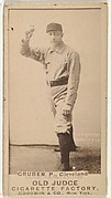 Henry Gruber, Pitcher, Cleveland, from the Old Judge series (N172) for Old Judge Cigarettes