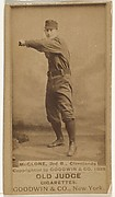 John T. McGlone, 3rd Base, Cleveland, from the Old Judge series (N172) for Old Judge Cigarettes