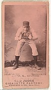 """Edwin Forrest """"Ned"""" Bligh, Catcher, Cleveland, from the Old Judge series (N172) for Old Judge Cigarettes"""