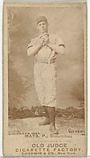 """Albert C. """"Al"""" Mays, Pitcher, Cleveland, from the Old Judge series (N172) for Old Judge Cigarettes"""
