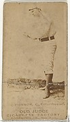 """Jack """"Peach Pie"""" O'Connor, Catcher, Cleveland, from the Old Judge series (N172) for Old Judge Cigarettes"""