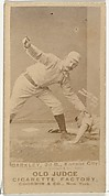 """Samuel E. """"Sam"""" Barkley, 2nd Base, Kansas City Cowboys, from the Old Judge series (N172) for Old Judge Cigarettes"""