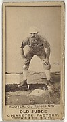 "Charles E. ""Charlie"" Hoover, Catcher, Kansas City Cowboys, from the Old Judge series (N172) for Old Judge Cigarettes"