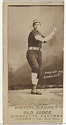 John Sowders, Pitcher, Kansas City Cowboys, from the Old Judge series (N172) for Old Judge Cigarettes