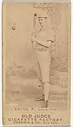 John Ewing, Pitcher, Louisville Colonels, from the Old Judge series (N172) for Old Judge Cigarettes
