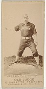 Guy Jackson Hecker, Pitcher, Louisville Colonels, from the Old Judge series (N172) for Old Judge Cigarettes